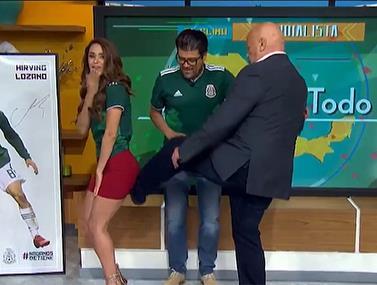 החזאית במקסיקו קבלה בעיטה בישבן בכדי לעזור לנבחרת