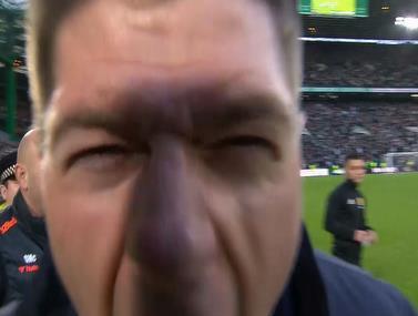 סטיבי ג'י צורח מאושר אחרי הניצחון בדרבי